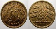 50 Rentenpfennig 1923  G Weimarer Republik  Stempelglanz  120,00 EUR  +  5,00 EUR shipping