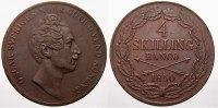 Cu 4 Skilling Banco 1850 Schweden Oskar I. 1844-1859. Fast vorzüglich  150,00 EUR  +  5,00 EUR shipping