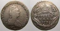 Grivennik 1779 Russland Zarin Katharina II. 1762-1796. Sehr schön-sehr ... 125,00 EUR  zzgl. 5,00 EUR Versand