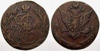 Cu 5 Kopeken 1769  EM Russland Zarin Katharina II. 1762-1796. Selten. S... 110,00 EUR  +  5,00 EUR shipping