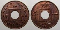 Cu Mil 1866 Hong Kong Victoria, 1837-1901. Fast stempelglanz  175,00 EUR  +  5,00 EUR shipping
