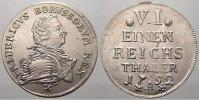 1/6 Taler 1752  A Brandenburg-Preußen Friedrich II. 1740-1786. Selten i... 300,00 EUR kostenloser Versand