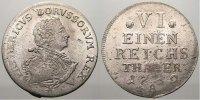 1/6 Taler 1752  A Brandenburg-Preußen Friedrich II. 1740-1786. Selten i... 275,00 EUR kostenloser Versand