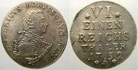 1/6 Taler 1752  A Brandenburg-Preußen Friedrich II. 1740-1786. Min. Sch... 275,00 EUR free shipping