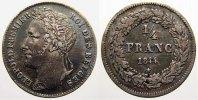 1/4 Franc 1844 Belgien, Königreich Leopold I. 1831-1865. Vorzüglich  250,00 EUR free shipping