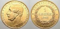 1 Krone 1866  B Braunschweig-Calenberg-Hannover Georg V. 1851-1866. Vor... 3500,00 EUR free shipping
