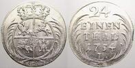 1/24 Taler 1754  L Brandenburg-Preußen Friedrich II. 1740-1786. Sehr se... 200,00 EUR  +  5,00 EUR shipping
