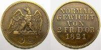 Passiergewicht zu 2 Friedrichs d'or 1821 Brandenburg-Preußen Friedrich ... 250,00 EUR free shipping