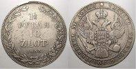10 Zloty / 1 1/2 Rubel 1833  NG Polen Nikolaus I. von Rußland 1825-1855... 300,00 EUR free shipping