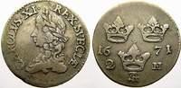 2 Mark 1671 Schweden Karl XI. 1660-1697. Sehr schön  150,00 EUR  zzgl. 5,00 EUR Versand