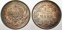 1/2 Mark 1913  E Kleinmünzen  Feinstes stempelglanz mit schöner Patina  40,00 EUR