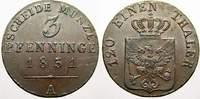 Cu 3 Pfennige 1831  A Brandenburg-Preußen Friedrich Wilhelm III. 1797-1... 120,00 EUR  +  5,00 EUR shipping