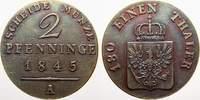 Cu 2 Pfennige 1845  A Brandenburg-Preußen Friedrich Wilhelm IV. 1840-18... 150,00 EUR  zzgl. 5,00 EUR Versand