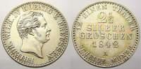 2 1/2 Silbergroschen 1842  A Brandenburg-Preußen Friedrich Wilhelm IV. ... 130,00 EUR  zzgl. 5,00 EUR Versand