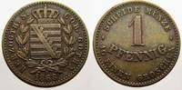 Sachsen-Coburg-Gotha Cu 1 Pfennig 1868 Sehr schön-vorzüglich Ernst II. 1... 35,00 EUR  zzgl. 5,00 EUR Versand