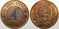 1 Skilling rigsmont 1856 Dänemark Frederik VII. 1848-1863. Stempelglanz... 15,00 EUR