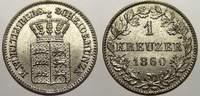 1 Kreuzer 1864 Württemberg Wilhelm I. 1816-1864. Fast stempelglanz  25,00 EUR