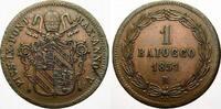 Cu Baiocco 1851  R Italien-Kirchenstaat Pius IX. 1846-1878. Min. Schröt... 35,00 EUR