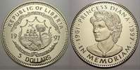 5 Dollars 1997 Liberia Liberia Republik seit 1847. Polierte Platte  6,00 EUR
