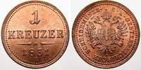 Cu 1 Kreuzer 1851  A Haus Habsburg Franz Joseph I. 1848-1916. Feinste s... 40,00 EUR