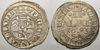 2 Albus 1693 Hanau-Lichtenberg Philipp Reinhard 1675-1712. Sehr schön-v... 65,00 EUR