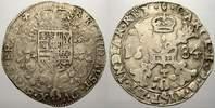 1/2 Patagon 1684 Belgien-Brabant Karl II. 1665-1700. Selten. Sehr schön  395,00 EUR