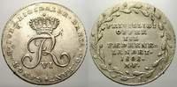 1/6 Reichstaler 1808 Schleswig-Holstein, Königliche Linie Friedrich VI.... 165,00 EUR
