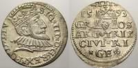 3 Gröscher. 1 1593 Riga, Stadt Sigismund III. 1587-1632. Min. Dezentrie... 125,00 EUR