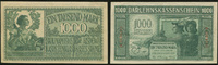 1000 Mark Darlehnskassenschein 4.4.1918 Die Deutschen Banknoten ab 1871... 143.01 US$ 125,00 EUR  +  11.44 US$ shipping