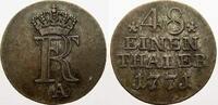 1/48 Taler 1771  A Brandenburg-Preußen Friedrich II. 1740-1786. Sehr sc... 20,00 EUR  zzgl. 5,00 EUR Versand