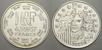 6, 55957 Francs (1 Euro) 2001 Frankreich  Min. berieben, stempelglanz  15,00 EUR  zzgl. 5,00 EUR Versand