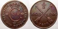 1/2 Skilling 1819 Schweden Karl XIV. Johann 1818-1844. Fast vorzüglich  50,00 EUR  +  5,00 EUR shipping