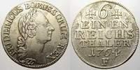 1/6 Taler 1764  F Brandenburg-Preußen Friedrich II. 1740-1786. Kl. Zain... 50,00 EUR  +  5,00 EUR shipping