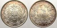 1/2 Mark 1913  E Kleinmünzen  Feinste stempelglanz mit schöner Patina  40,00 EUR  zzgl. 5,00 EUR Versand