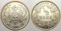 1/2 Mark 1912  A Kleinmünzen  Feinste stempelglanz!  35,00 EUR  zzgl. 5,00 EUR Versand