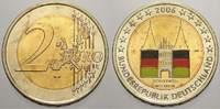 2 Euro (Farbe, coloriert) 2006  J Deutschland  unzirkuliert  8,00 EUR  +  5,00 EUR shipping
