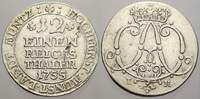 1/12 Taler 1755  IK Münster, Bistum Clemens August von Bayern 1719-1761... 30,00 EUR  zzgl. 5,00 EUR Versand