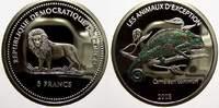 5 Francs (Farbmünze) 2 2003 Kongo Republik seit 1997. Polierte Platte  15,00 EUR  zzgl. 5,00 EUR Versand