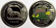 5 Francs (Farbmünze) 2 2004 Kongo Republik seit 1997. Polierte Platte  15,00 EUR  +  5,00 EUR shipping