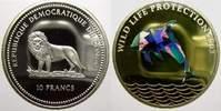 10 Francs (Farbmünze) 2 2003 Kongo Republik seit 1997. Polierte Platte  40,00 EUR  +  5,00 EUR shipping