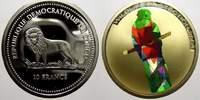 10 Francs (Farbmünze) 2 2004 Kongo Republik seit 1997. Polierte Platte  40,00 EUR  +  5,00 EUR shipping