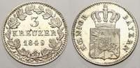 3 Kreuzer 1849 Bayern Maximilian II. 1848-1864. Erstabschlag, vorzüglic... 50,00 EUR  zzgl. 5,00 EUR Versand