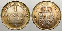 Pfennig Probe in Nickel 1865  A Brandenburg-Preußen Wilhelm I. 1861-188... 50,00 EUR  +  5,00 EUR shipping