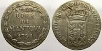 Mezza Lira di Mantova 1791 Haus Habsburg Leopold II. 1790-1792. Selten.... 175,00 EUR  zzgl. 5,00 EUR Versand