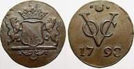 Cu 1 Duit 1790 Niederlande-Niederländisch-Ostindien Verainigte Ostindis... 75,00 EUR  zzgl. 5,00 EUR Versand