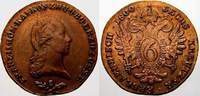 Cu 6 Kreuzer 1800  S Haus Habsburg Franz II. (I.) 1792-1835. Fast vorzü... 20,00 EUR  zzgl. 5,00 EUR Versand