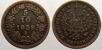 Cu 5/10 Kreuzer 1858  A Haus Habsburg Franz Joseph I. 1848-1916. Sehr s... 5,00 EUR  +  5,00 EUR shipping