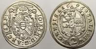 2 Kreuzer 1696 Salzburg, Erzbistum Johann Ernst von Thun und Hohenstein... 40,00 EUR  +  5,00 EUR shipping