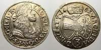 3 Kreuzer (Groschen) 1685 Haus Habsburg Leopold I. 1658-1705. Fast vorz... 33.65 US$ 30,00 EUR  +  11.22 US$ shipping