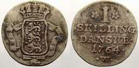 1 Skilling 1764  W Dänemark Frederik V., 1746-1766. Sehr schön+  50,00 EUR  + 5,00 EUR frais d'envoi